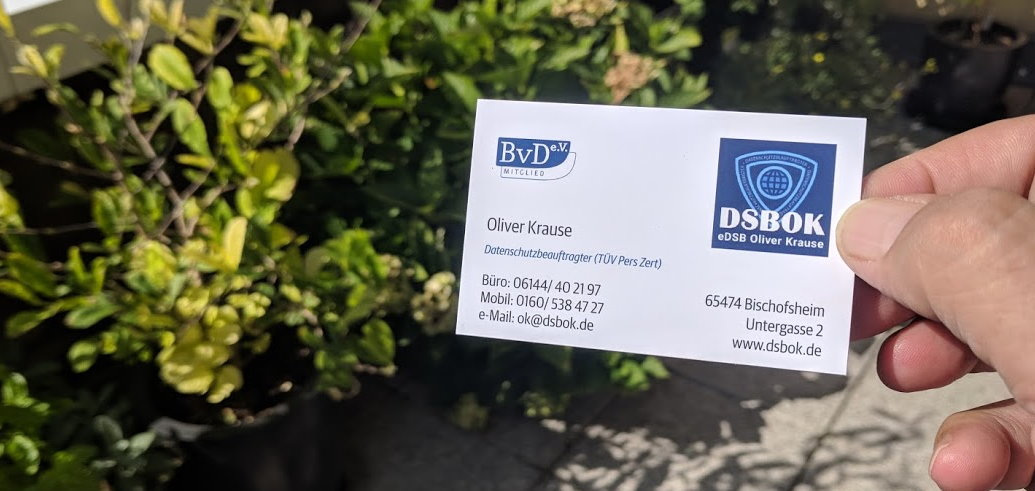 DSGVO Vistenkarte Messe