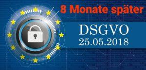 DSGVO nach 8 MOnaten