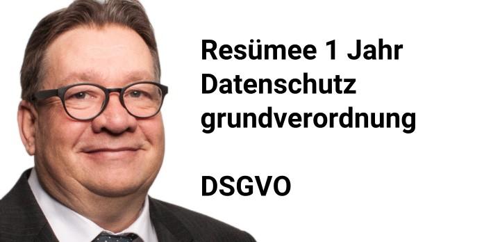 1 Jahr DSGVO